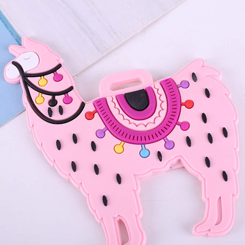 GothYor Youngle Alpaca Luggage Tag Silicone Name Tag Holder(White) by GothYor Youngle (Image #7)