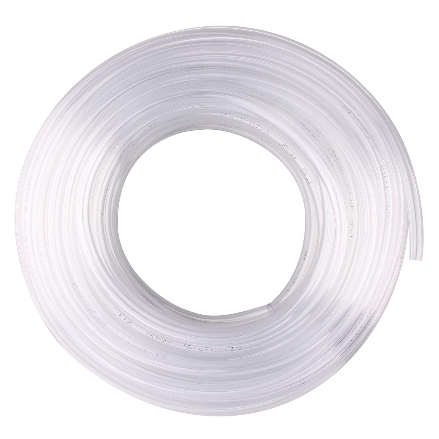 DERPIPE Clear Vinyl Tubing - 5/16 in ID 7/16 in OD PVC Tube Food Grade Flexible Plastic Pipe Hose for Homebrewing, Siphon Pump 30.5 Meters(100ft) Length