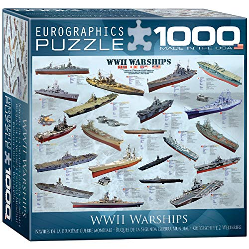 (EuroGraphics WWII War Ships Puzzle (Small Box) (1000-Piece))