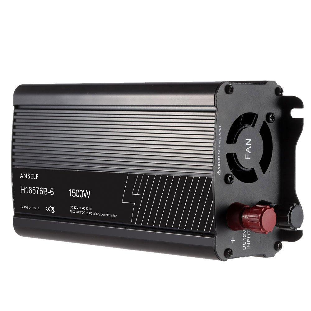 Anself Household Solar Power Inverter DC12V to AC220-240V AC Converter Modified Sine Wave Form
