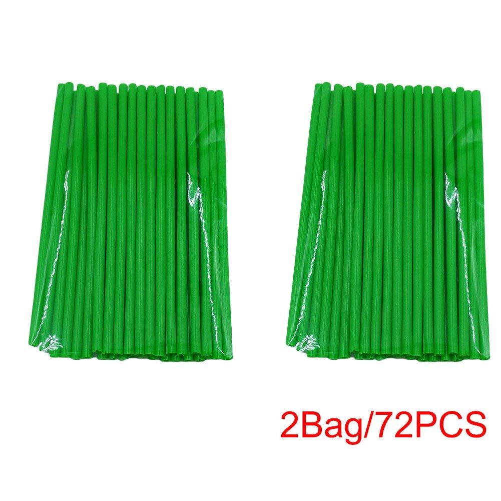 Green 72Pcs Wheel Spoke Wraps Covers Rims Skins Guard Protector Motocross Spoke Sleeve Decoration