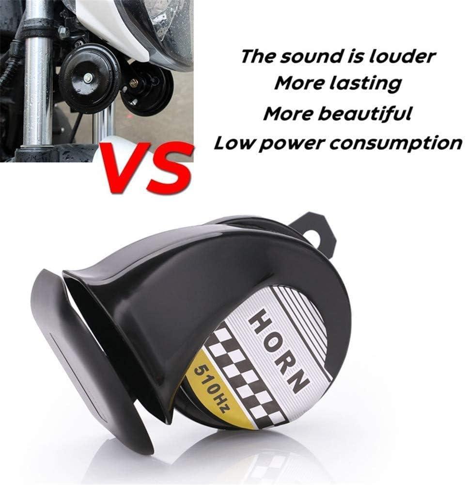 geeignet f/ür 12V Hochleistungs Motorradzubeh/ör Universal Motorrad LKW Hupe 130dB stark und laut wasserdicht Blau