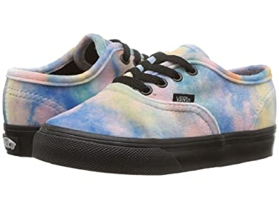 49765cfcdf3 Vans Authentic Velvet Tie-Dye Multi Blue Toddler Shoes (6.5 M US Toddler)