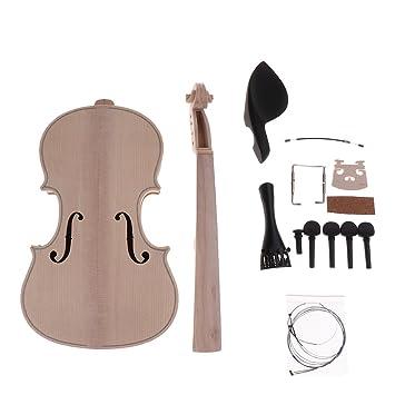 IPOTCH 1 Set Kit de Violín 4/4 para Novatos Diapasón, Cuerdas, Puente