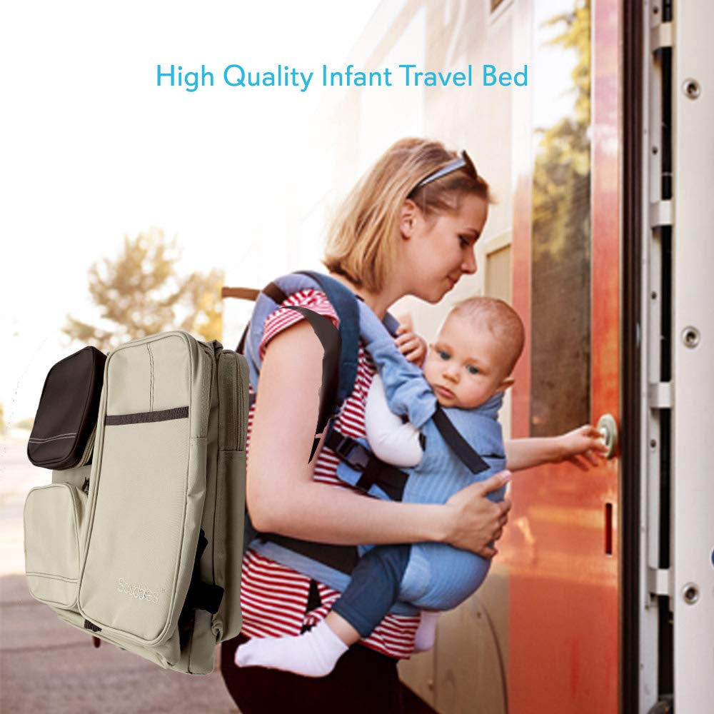 Scuddles 3 In 1 Travel Infant Bed Baby Diaper Bag & Baby Changing Pad Portable Systems | Infant Sleeping Bag | Travel Bed, Easy Carry Design Portable For Girls & Boys Travel Accessory (SC-FDB-01) by Scuddles (Image #7)