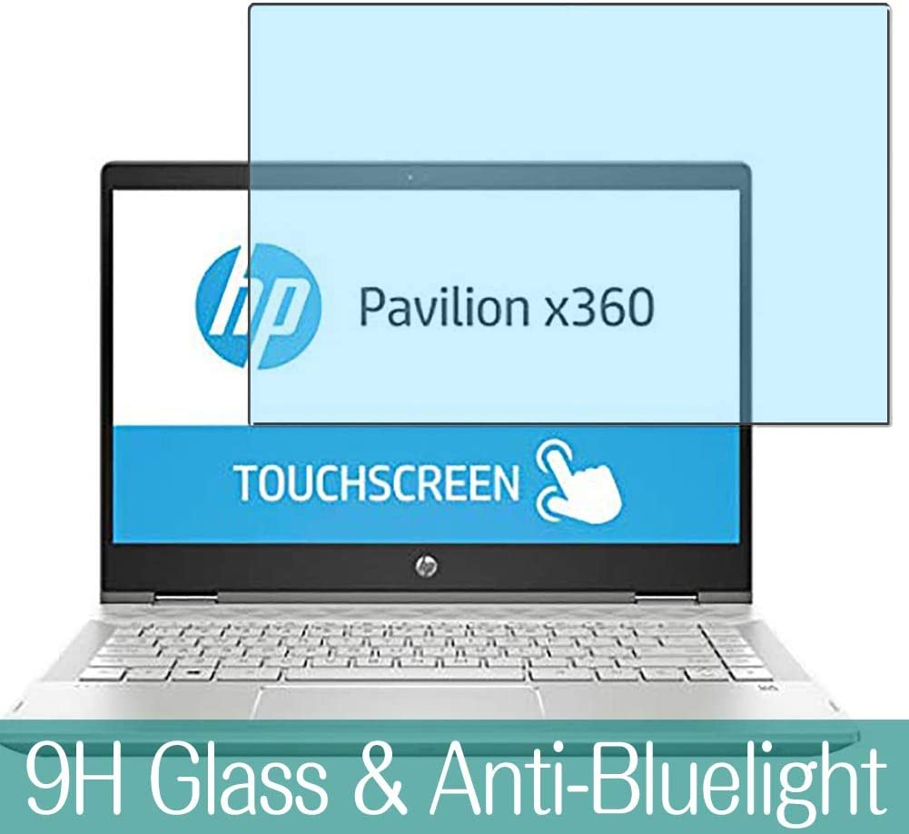 "Synvy Anti Blue Light Tempered Glass Screen Protector for HP Pavilion x360 14-cd0000 2018 14"" Visible Area 9H Protective Screen Film Protectors"