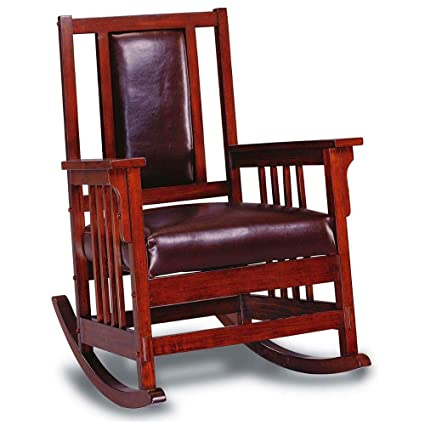 promo code 107c3 1c601 Amazon.com: Wooden Rocking Chair with Arms Indoor Large ...