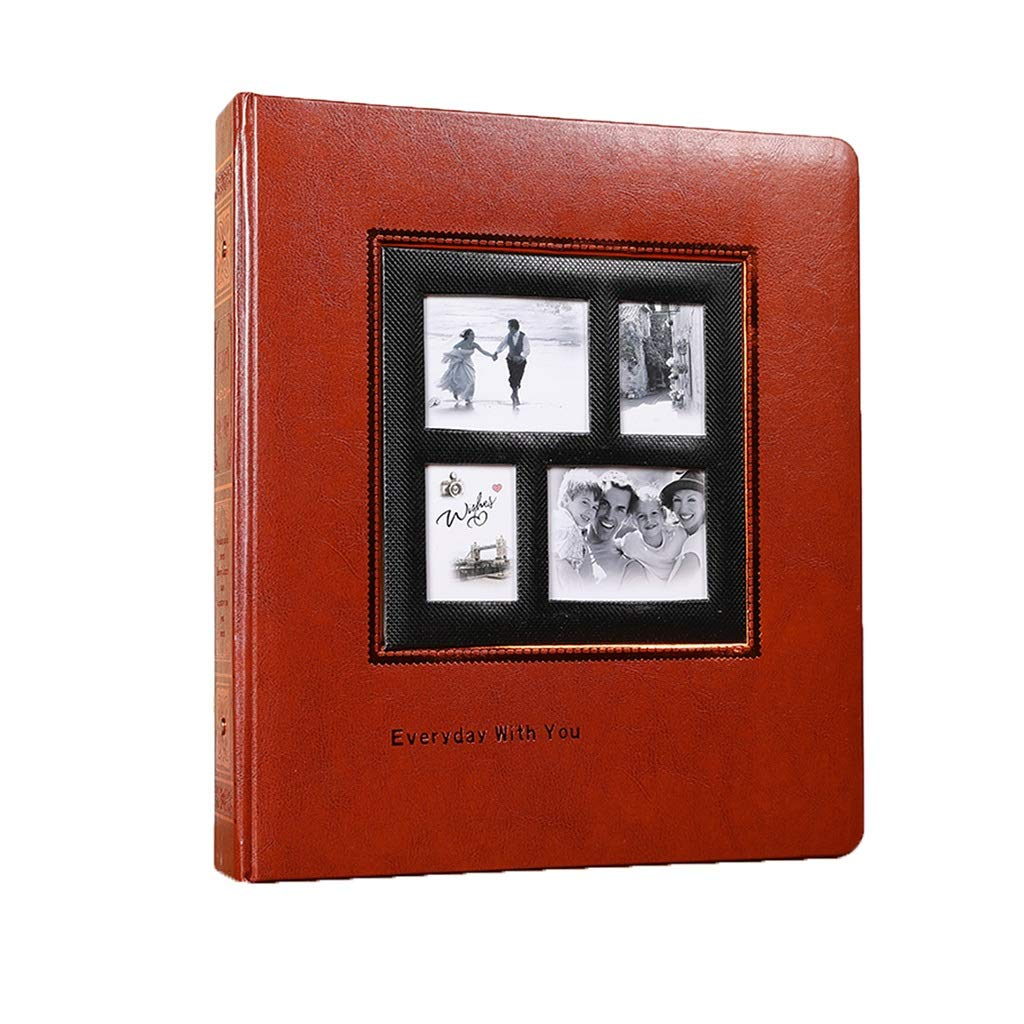 Photo Organizer Interstitial Album Book Travel Wedding Record Album Family Memoir Best Gift Stamp Book Travel Record (Color : Brown, Size : 3033.53.8cm) by Albums Inc.