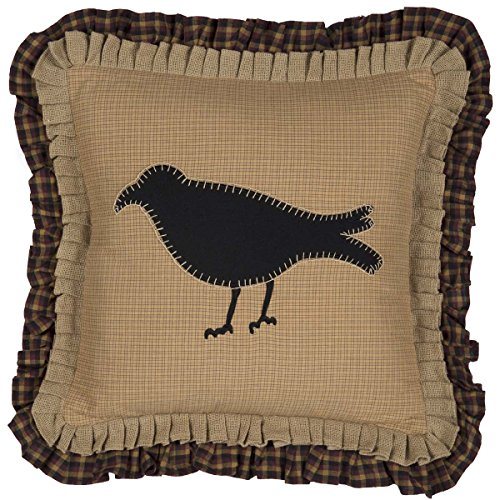 VHC Brands Pillows & Throws-Primitive Crow Yellow 18