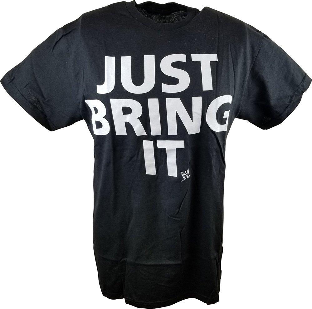 The Rock Just Bring It WWE Mens Black T-Shirt-XL