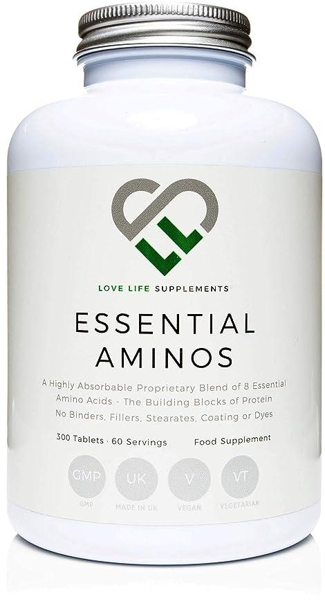 LLS aminoácidos esenciales (EAA)   300 pastillas / 60 porciones   5-10g