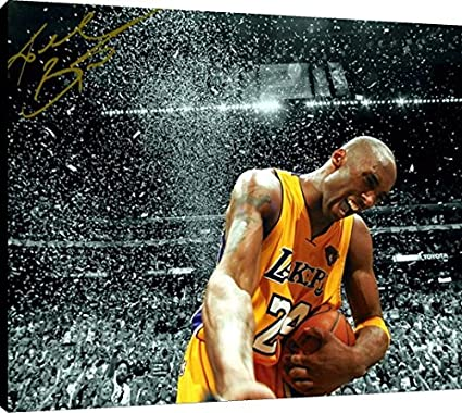 sale retailer 33eb4 61852 Image Unavailable. Image not available for. Color  Canvas Wall Art  Kobe  Bryant Celebration Los Angeles Lakers ...