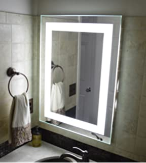 mirror 20 x 36. wall mounted lighted vanity mirror led mam82028 commercial grade 20\ 20 x 36