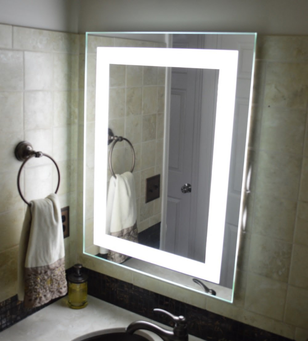 Wall Mounted Lighted Vanity Mirror LED MAM82028 Commercial Grade 20'' wide x 28'' tall by Mirrors and Marble