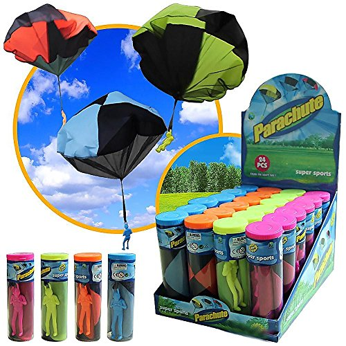 WEKA 1Pc Tangle-Free Soldier Parachute Hand Throws operated 43CM Cloth Toys Random color (Tangle Free Toy Parachute)