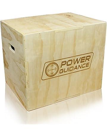 POWER GUIDANCE Caja pliométrica de madera 3 en 1 - Ideal para entrenamiento cruzado - 40