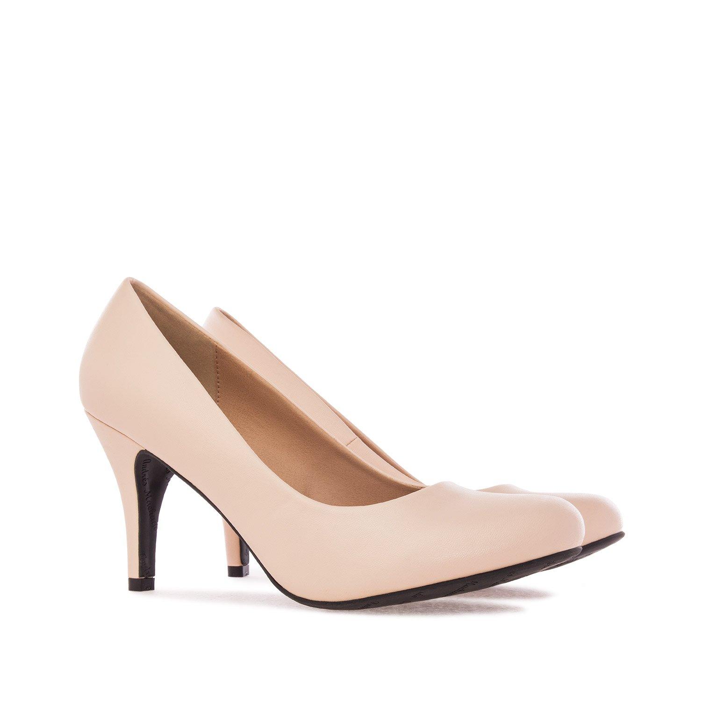 Beige - Sanftes Beige Andres Machado Damen Kleid-Schuhe