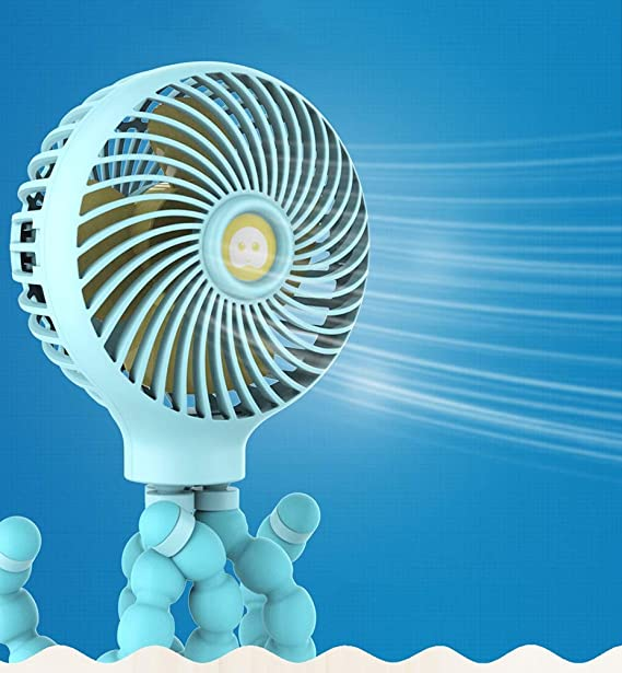 Clip para ventilador del cochecito encendido, ventilador personal ...