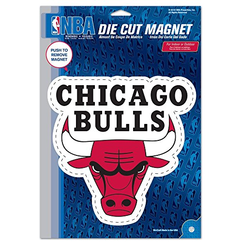 Bulls Poster Team Chicago - WinCraft NBA Chicago Bulls Die Cut Logo Magnet, 6.25