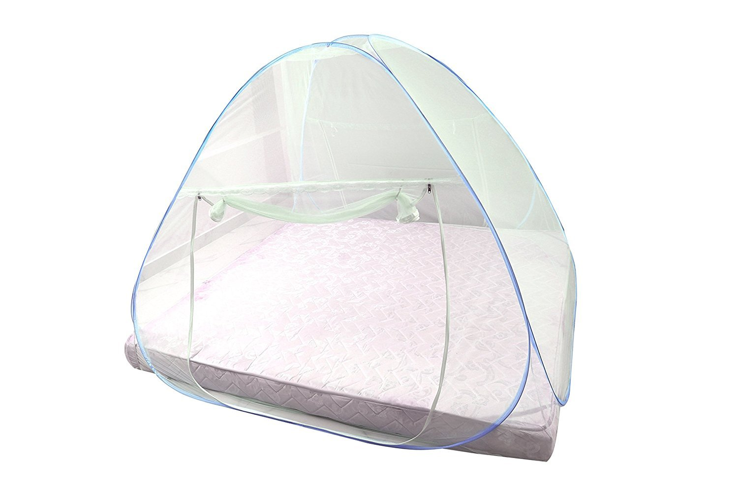 V Make Foldable Mosquito Net for King Size Double Bed (Blue) product image