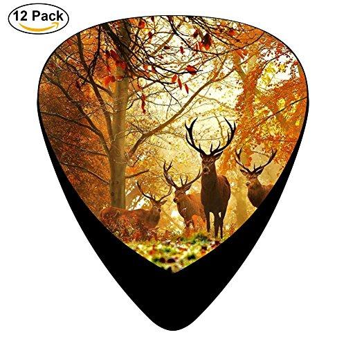 Guitar Picks Celluloid Cartoon Deer 12 Pack Shape For Acoustic Guitar Mandolin Electric Guitar And -