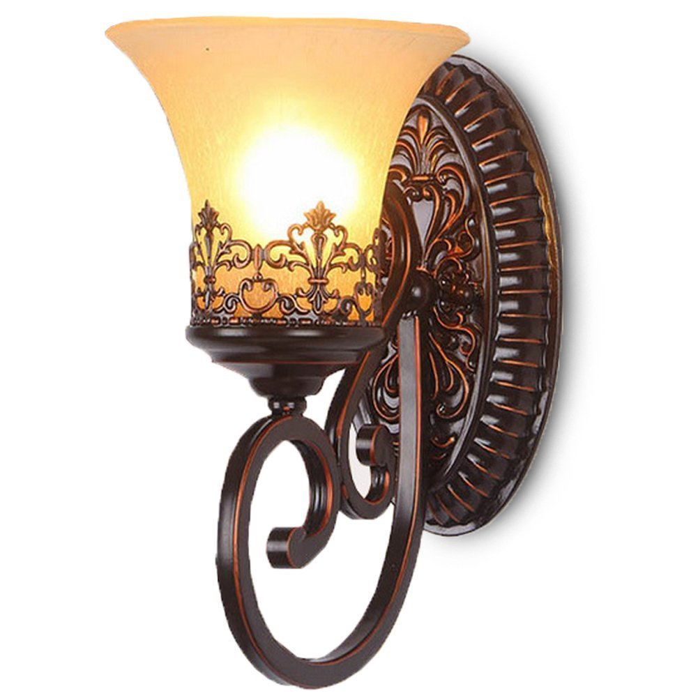 CGJDZMD Wall Sconce Retro Vintage Industrial Wrought Iron Wall Lamp, Traditional Vintage Oranmental Candle Holder Style Hanging Light for Kitchen, Dining room,Lliving room Single Head Decorative by CGJDZMD