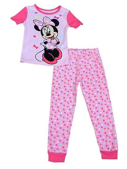 c3d3e7ea0270 Amazon.com  Disney Girls Pink Dot Minnie Mouse Pajama Top   Bottoms ...