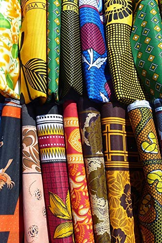 Home Comforts Peel-n-Stick Poster of Fabric Tanzania Colorful Africa Color Towels Vivid Imagery Poster 24 x 16 Adhesive Sticker Poster Print