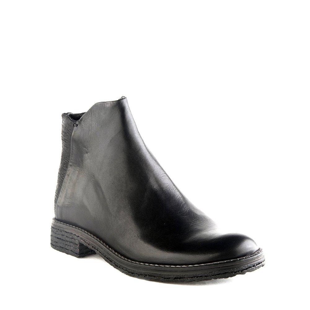 Felmini Damen Schuhe - Verlieben Crepona 9841 - Reißverschluss Stiefeletten - Echte Leder - Schwarz - 0 EU Größe