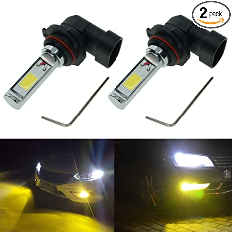 Calais Extremely Bright 9006 Led Fog Light Bulb Yellow 2000 Lumens High Power Cob Chips 9006 Hb4 Led Fog Lights Lamp Bulbs Replacement Set Of 2