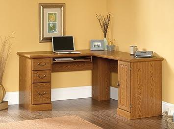 Amazoncom Sauder Orchard Hills Corner Computer Desk Carolina