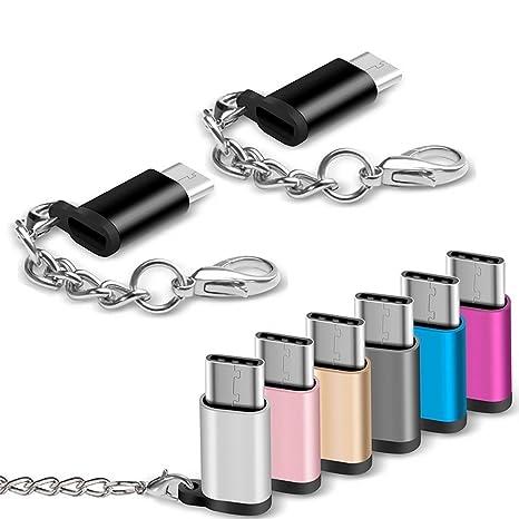 lzndeal 1/3/8Pcs USB-C macho a micro USB adaptador hembra ...
