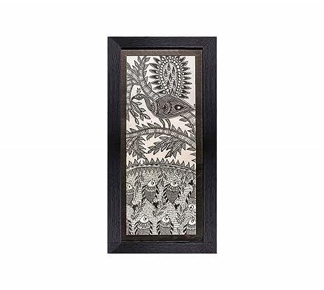 amazon com madhubani painting traditional framed wall art and