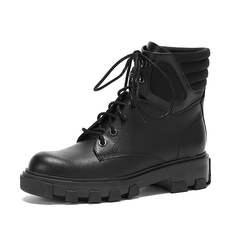 Women's Martin boots winter fashion trendy personality short boots ( Color : Black , Size : US:7UK:6EUR:39 )