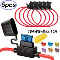 Gebildet 5 PCS 32V 20A Standard Portafusibles Impermeable