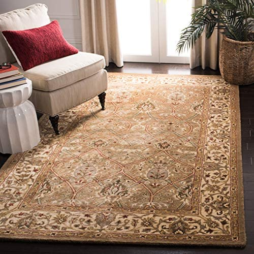 "Safavieh Persian Legend Collection PL819A Handmade Traditional Light Green and Beige Wool Area Rug 7'6"" x 9'6"""
