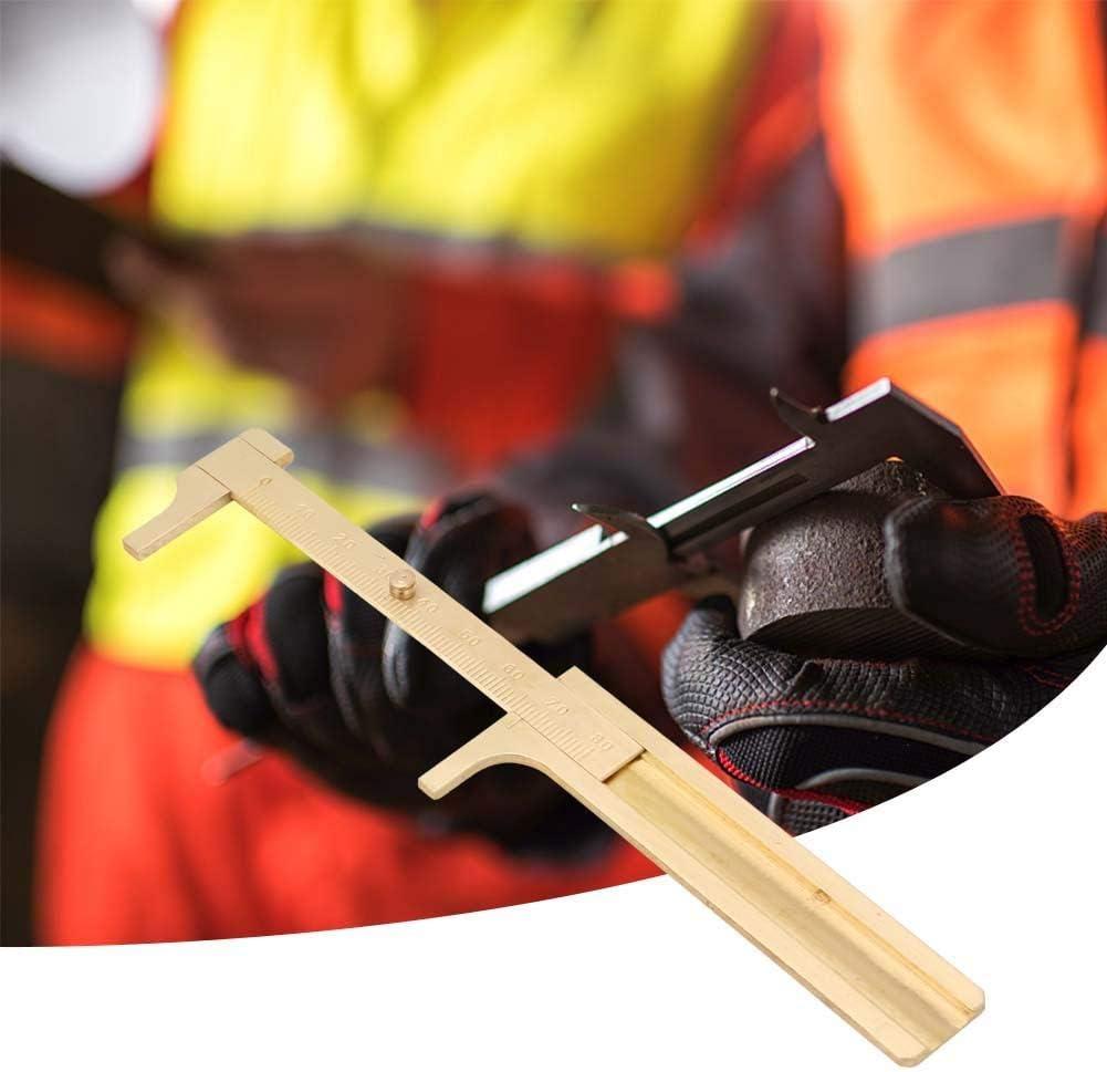 Zerone Vernier Caliper Outil de mesure Portable Solid Copper Vernier Caliper 0-80mm Caliper Ruler for Archaeology