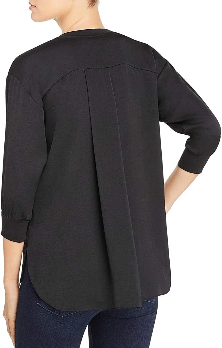 Kenneth Cole New York Womens Hi-Low V-Neck Pullover Top