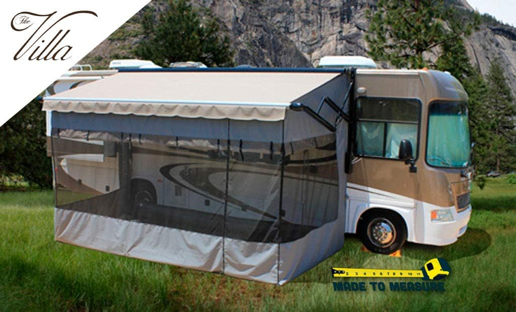 Villa Room Enclosure for Electric awnings - 18ft, RV Awning Screen Room