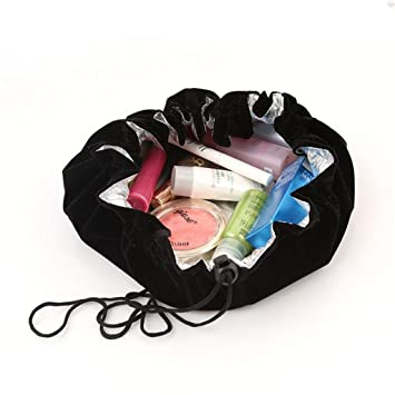 Amazon.com : UNKE Portable Drawstring Travel Makeup Bag Organizer ...