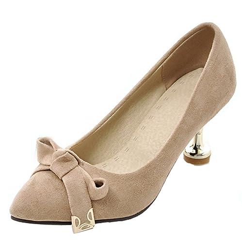 28674d72aed Aisun Women s Elegant Low Cut Pointed Toe Dress Stiletto Kitten Heels Slip  On Wedding Pumps Shoes