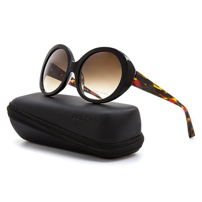 b01b9c6d70 Alain Mikli Sunglasses AL 1409 A039 Black Red Amber Frame   Brown Gradient  Lens  Alain Mikli  Amazon.ca  Clothing   Accessories