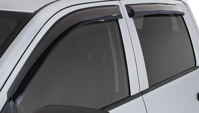 Stampede 6014-2 Smoke Tape-Onz Sidewind Deflector for 2019 Silverado & Sierra 1500 Crew Cab, 4pc Set by Stampede