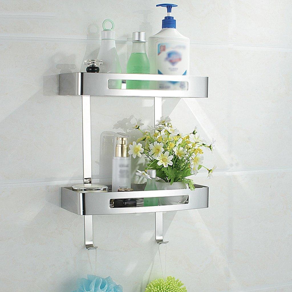 YCT 収納キャビネット、304ステンレス鋼の浴室用ラックの二重棚を整理しなさい (サイズ : B) B07R6CT1RQ  B