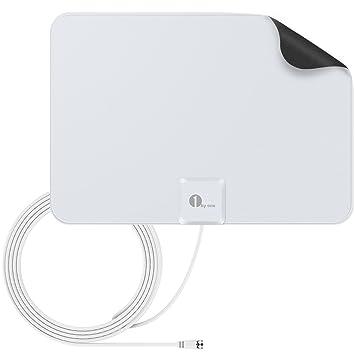 1byone ous00 – 0562 amplificada HDTV Antena 50 Millas Gama con Fuente de alimentación USB y