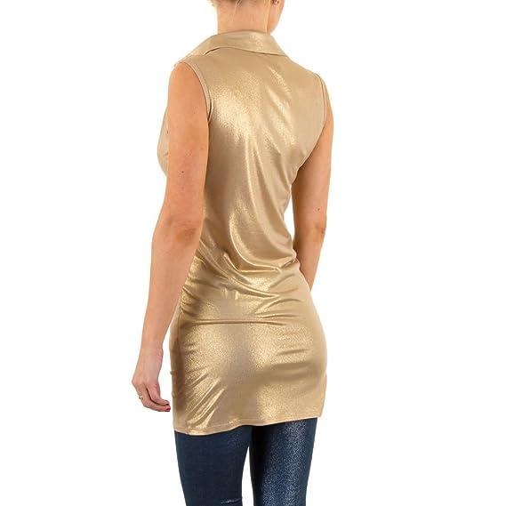 Elastische Party Tunika Für Damen , Gold In Gr. M bei Ital-Design:  Amazon.de: Bekleidung
