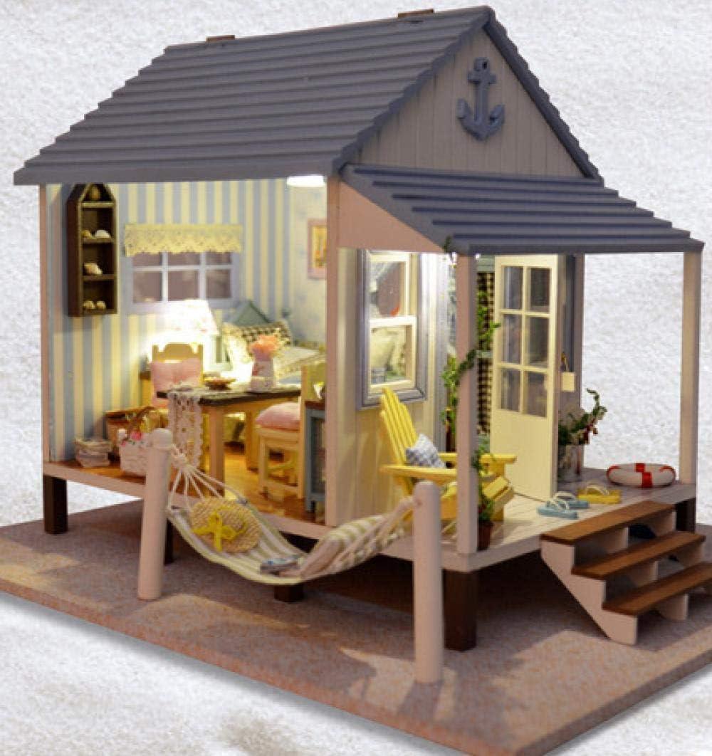 NZHSAMJ Modelo en Miniatura cabaña de Bricolaje Hecho a Mano DIY Cabina Modelo casa Material Paquete Costura casera: Amazon.es: Hogar