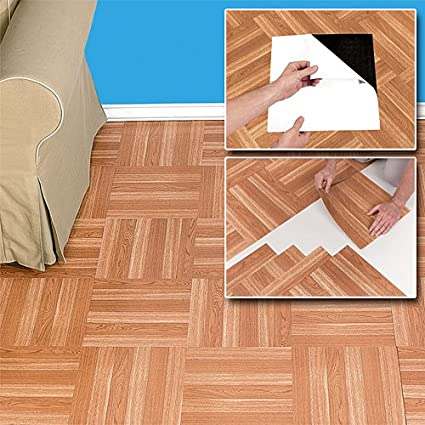 Peel N Stick Self Adhesive Wood Floor Tiles Amazoncouk Kitchen