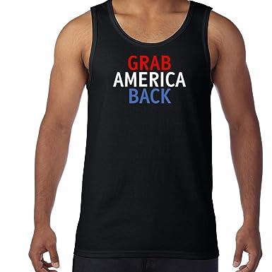 AW Fashions Grab America Back - Trump Shirt Mens Tank Top (Small, Black)