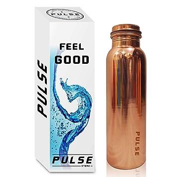 Pulse 2018 - Botella de agua de cobre puro, sin juntas, a prueba de
